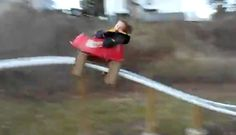 """""""Do Again Daddy!"""" Son's Joy on Backyard Rollercoaster Dad Made from PVC --- #video — We admit it...We want one. --- http://ht.ly/jng2S    A good many fathers will put together train sets for their children, or treehouses, swingsets or forts. But rollercoasters?     What's the best thing you've build for your son or daughter? Or your dad built for you? Send photos / videos to info@goodmenproject.com or tell us in the comments."""