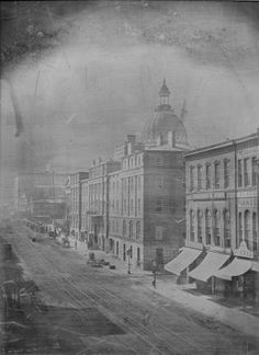 Fourth Street looking South from Olive Street. (1866)