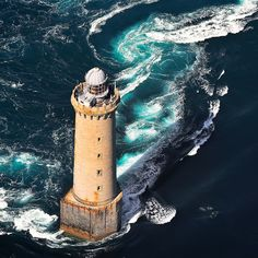 Beautiful Lighthouses Around the World, Phare de Kereon, France Photos) Beautiful color of the water Photo Bretagne, Digital Foto, Lighthouse Lighting, Lighthouse Pictures, Beacon Of Light, Light Of The World, Le Moulin, Belle Photo, Wonders Of The World