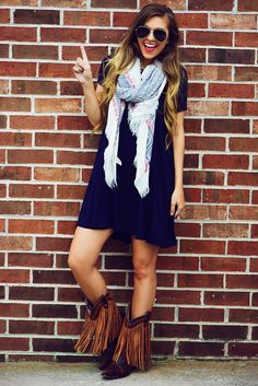 Tailgate Time Dress: Navy