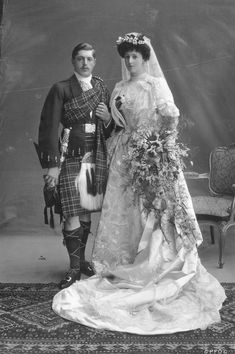 RoyalDish - Aristocratic/Noble weddings - page 6 - 1906 Wedding portrait of Lord Ninian Edward Crichton-Stuart and Lucretia Mary Ismay only daughter of 4th Viscount Gormanston.