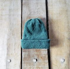 Men's knit hat, Green knit hat, Man's head wear, Reversible hats, Hand made Knitted hat, Earthy, Thick Wool hat, Winter warmer, gift for him