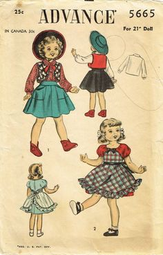 """Pattern Packs for 8/"""" Ginny Dolls 27 Outfits! 5"""