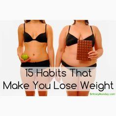 15 habits that help you lose weight--helped me lose 55 pounds! 15 habits that help you lose weight-- Meal Plans To Lose Weight, Help Losing Weight, How To Lose Weight Fast, Fast Weight Loss, Healthy Weight Loss, Fitness Diet, Health Fitness, Lose 5 Pounds, Workout Regimen