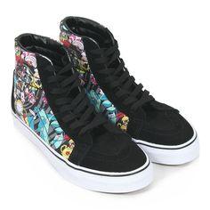 Vans Women's Sk8-Hi Disney Rabbit Hole Canvas / Suede Trainer Black in Clothes, Shoes & Accessories, Women's Shoes, Trainers | eBay