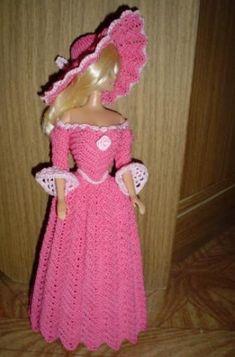 ropa crochet para barbie - Buscar con Google