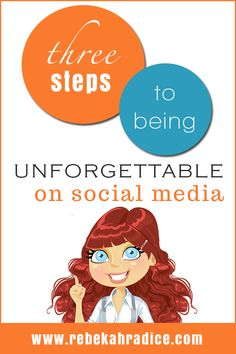 3 steps to being unforgettable on social media by building a stellar personal brand, using social media to expand your reach and influence. Content Marketing, Online Marketing, Social Media Marketing, Digital Marketing, Mobile Marketing, Marketing Strategies, Marketing Plan, Inbound Marketing, Business Marketing