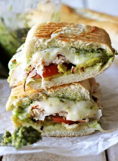 Turkey Pesto Panini - 5 Genius Ways to Use Your Thanksgiving Leftovers via @domainehome