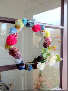 fun wreath- maybe for the spring