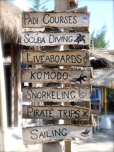 Beach signs.  BLISS.