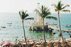 pier (prairienowhere) Tags: beach palms mexico puerto pier vallarta