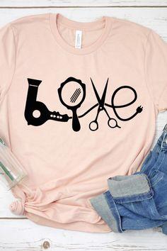 Love Shirt, Hair Stylist Shirt, Hair Dresser Shirt, Beauty School – Keep up with the times. Cute Summer Outfits, Cute Outfits, Hair Stylist Shirts, Cute Shirt Designs, Nyx Matte, Matte Lipsticks, Shirt Hair, Love Shirt, Cute Shirts