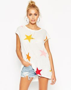ASOS Tunic T-Shirt with Star Print