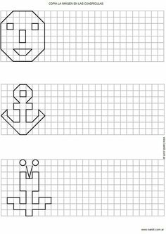 Symmetry Worksheets, Tracing Worksheets, Worksheets For Kids, Coding For Kids, Math For Kids, Lessons For Kids, Math Games, Math Activities, Perspective Drawing Lessons