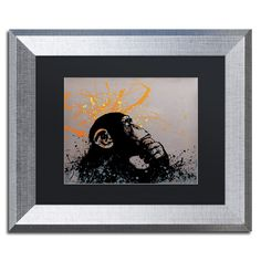 The Thinker by Banksy Framed Graphic Art