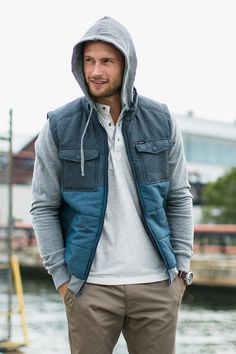 Be ready for that chill in the air with RVCA's part-puffer, part-hoodie Wayward Jacket.