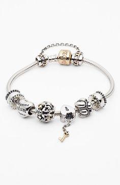 PANDORA Silver Bracelet & Charms   Nordstrom