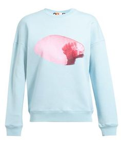 MSGM - Unisex Soap Printed Cotton Sweatshirt