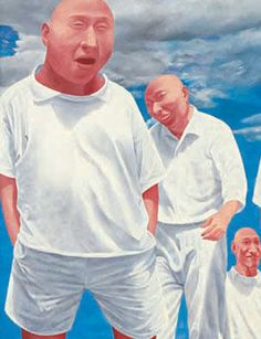(detail) SERIES II-6 -- Fang Lijun (方力钧; b1963, Handan, Hebei Province, China)