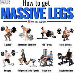 health fitness - Build Massive Strong Legs & Glutes With This Amazing Workout And Tips! Fitness Workouts, Leg Workouts For Men, Exercise Fitness, Leg And Glute Workout, Weight Training Workouts, Gym Workout Tips, At Home Workouts, Abdominal Workout, Glutes Workout Men