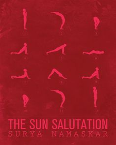 Sun Salutation A by sunnychampagne: Available in multiple color options. #Illustration #Yoga #Sun_Salutation