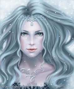 Fantasy woman portraits Winter beauty