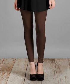 Brown Essential Leggings - Plus Too