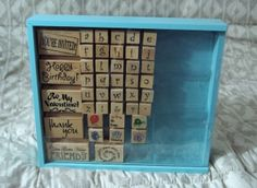 RUBBER INK STAMP SET Childrens Play and Learning Alphabet Toy Used http://AJunkeeShoppe.Webstore.com