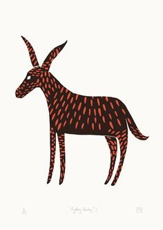 Mystery Donkey No.1 A2 screen-print in by jamesgreenprintworks