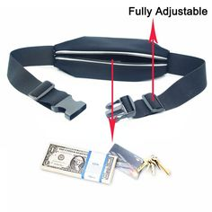 """Waist Pack, Smarco Adjustable and Touchscreen Running Belt for iPhone6, iPod, Keys, Cash and Credit Cards - Ideal for Jogging, Gym, Running, Workout, Hiking or Other Sports-(Two Size 4.7""""and 5.5"""") Workout Accessories, Fitness Accessories, Running Belt, Bank Card, Waist Pack, Workout Gear, Jogging, Ipod, Iphone 6"""