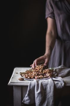 Savory Pecan Rosemary Granola Bars by Eva Kosmas Flores A delicious, quick, and healthy recipe for an on-the-go snack: savory pecan and rosemary granola bars with coconut, dates, and honey. Healthy Snacks, Healthy Recipes, Healthy Sweets, On The Go Snacks, Pear Recipes, Granola Bars, Food Pictures, Food Styling, Food Photography