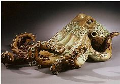 clay sculpture Octopus