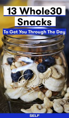 If you decide to take the Whole30 plunge, you'll focus on eating satisfying meals and cutting out mindless snacking. That said, there will be times when you need a snack because you're really, truly hungry. Veggies, fruit, and nuts are good choices, and here are some more creative ideas if you feel like shaking things up.