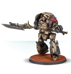 Adeptus Custodes Shield-Captain and Contemptor-Achillus Dreadnought Warhammer 40k Figures, Warhammer Models, Warhammer 40k Miniatures, Warhammer 40000, Warhammer Paint, Sisters Of Silence, Legio Custodes, The Horus Heresy, War Dogs