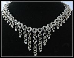 Chainmaille Necklace. Something similar but statement style with a softer back could be pretty!