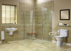 Wet Room Design Ideas #WheelchairBathroomDesigns >> Visit us at http://www.disabledbathrooms.org/wheelchair-accessible-bathroom.html