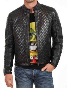 Lambskin Leather Jacket Genuine Mens Stylish Biker Motorcycle Black slim fit X26 #WesternOutfit #Motorcycle