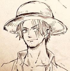Zoro One Piece, One Piece Ace, One Piece Fanart, Anime Manga, Anime Guys, Anime Art, Manga Girl, Anime Drawings Sketches, Anime Sketch