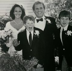 Wedding of Joseph P Kennedy II and Beth Kelly, with his twin sons, Joseph III and Matthew