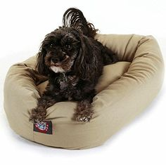 Majestic Pet Products Bagel Donut Dog Bed *** Click on the image for additional details. (This is an affiliate link and I receive a commission for the sales)