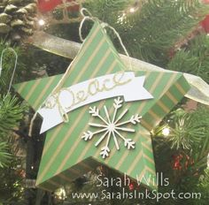 Many Merry Stars Simply Created kit - make 26 stars of various sizes as ornaments or home decor! Christmas Tree Table Decorations, Christmas Tree On Table, Holiday Cards, Christmas Cards, Christmas Ornaments, Stampin Up Christmas, Christmas Holidays, Stampin Up Many Merry Stars, Holiday 2014