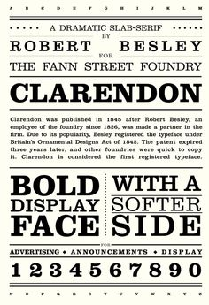 31 Best Clarendon Font Family images in 2013 | Clarendon