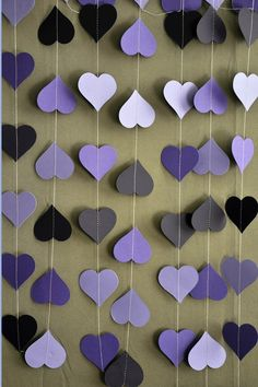 Purple wedding decoration, purple wedding garland, Heart garland, Wedding decoration, Wedding decor, Wedding garland,Bridal shower decor