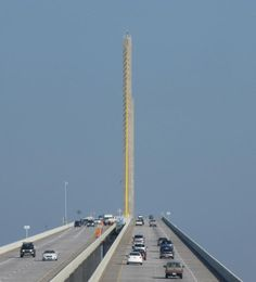 Skyway Bridge I-275 Tampa bay Florida - AMAZING!  I didn't realize how amazing until I rode over it.  Unbelievable!