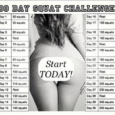 I am taking the challenge starting today, 8/1/2013! The Khloe Kardashian's 30 Day Squat Challenge. See me in 30 days!