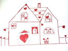 Queen of Hearts House New Home Greeting Card by LilyMoonsigns