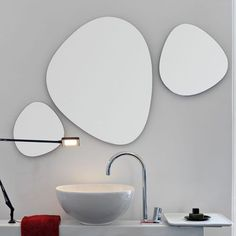 irregular shaped bathroom mirrors