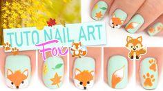 Tuto Nail art ♡ Petit renard Fox automnale