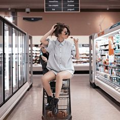 Sitting in the supermarket with your icecream