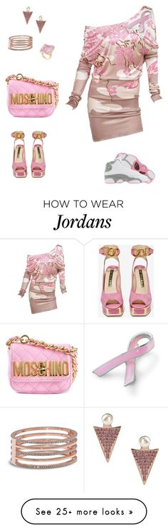 """""""#PhuckCancer"""" by ajaomniese on Polyvore featuring Retrò, CA&LOU, Bling Jewelry, Kat Maconie, Vince Camuto and Moschino"""